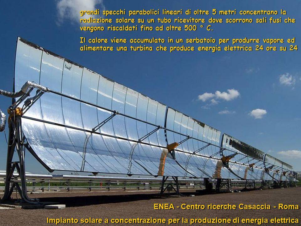 43progetto ENEA - Educarsi al futuro ENEA - Centro ricerche Casaccia - Roma ENEA - Centro ricerche Casaccia - Roma Impianto solare a concentrazione pe