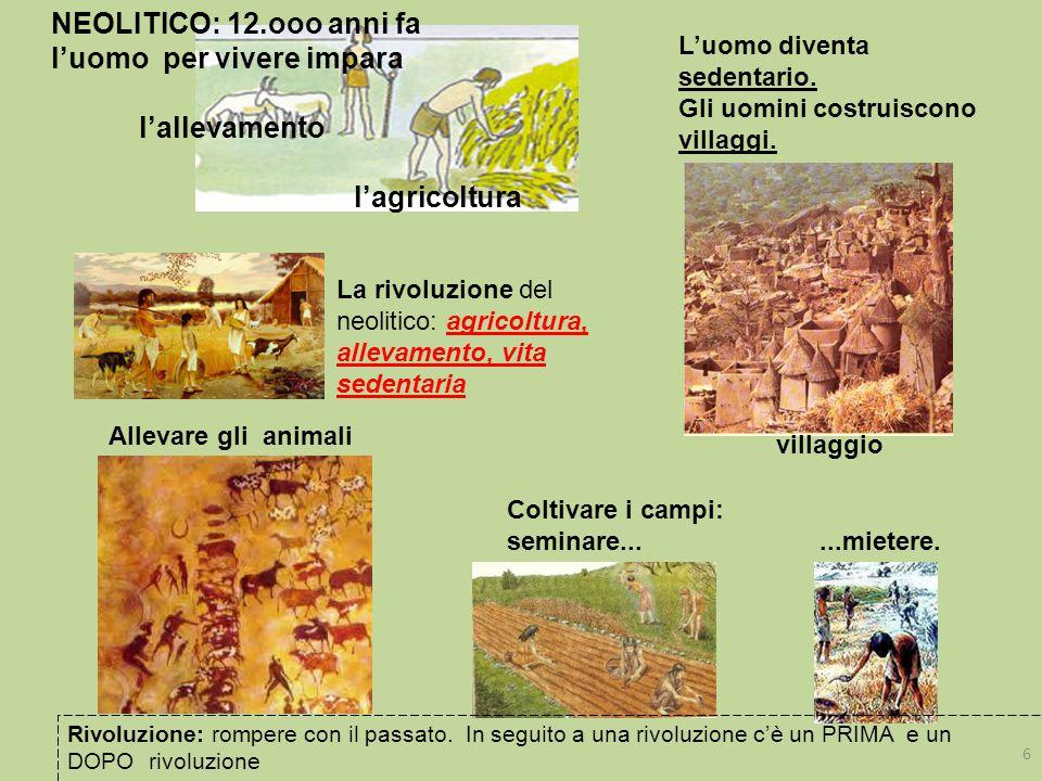 Neolitico: nascono nuovi mestieri L'UOMO IMPARA A LAVORARE I METALLI: prima il rame nel 5.000 a.C.