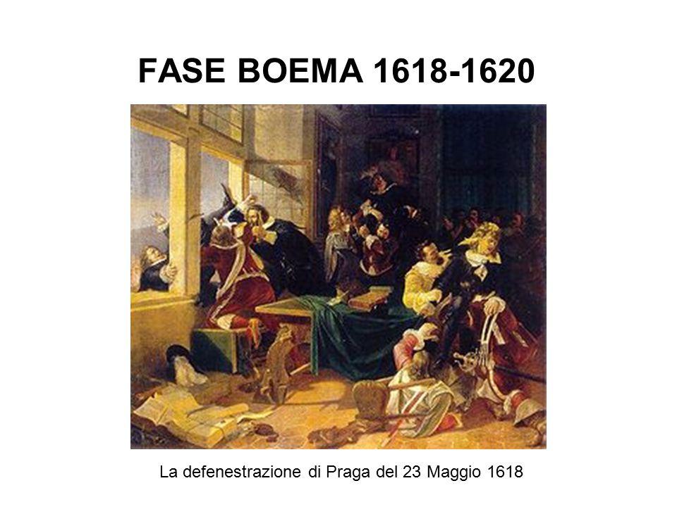 FASE BOEMA 1618-1620 La defenestrazione di Praga del 23 Maggio 1618
