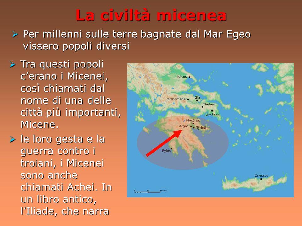 La fine della civiltà minoica 1.500 a. C.  serie di cataclismi di dimensioni apocalittiche, che misero in difficoltà l'organizzazione palaziale 1.200