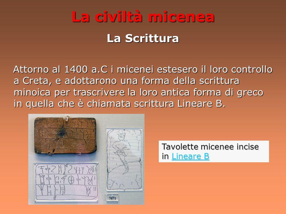 La civiltà micenea La Cultura I micenei praticavano il culto dei morti, seppellendoli in tombe dette Thòlos. I micenei praticavano il culto dei morti,