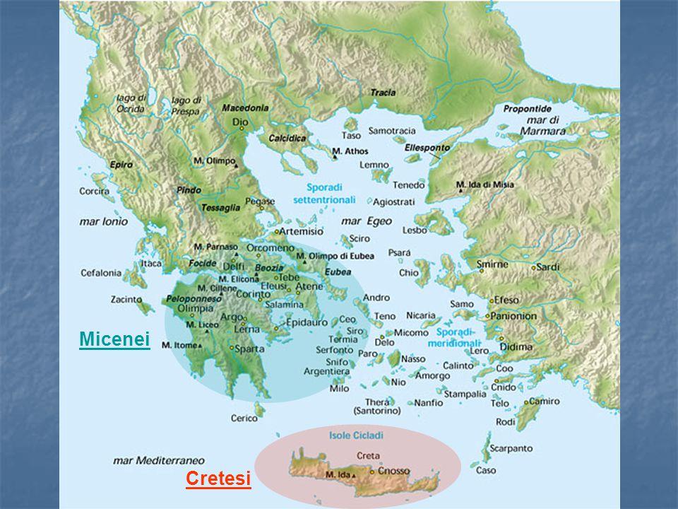 La civiltà micenea La Scrittura Attorno al 1400 a.C i micenei estesero il loro controllo a Creta, e adottarono una forma della scrittura minoica per trascrivere la loro antica forma di greco in quella che è chiamata scrittura Lineare B.