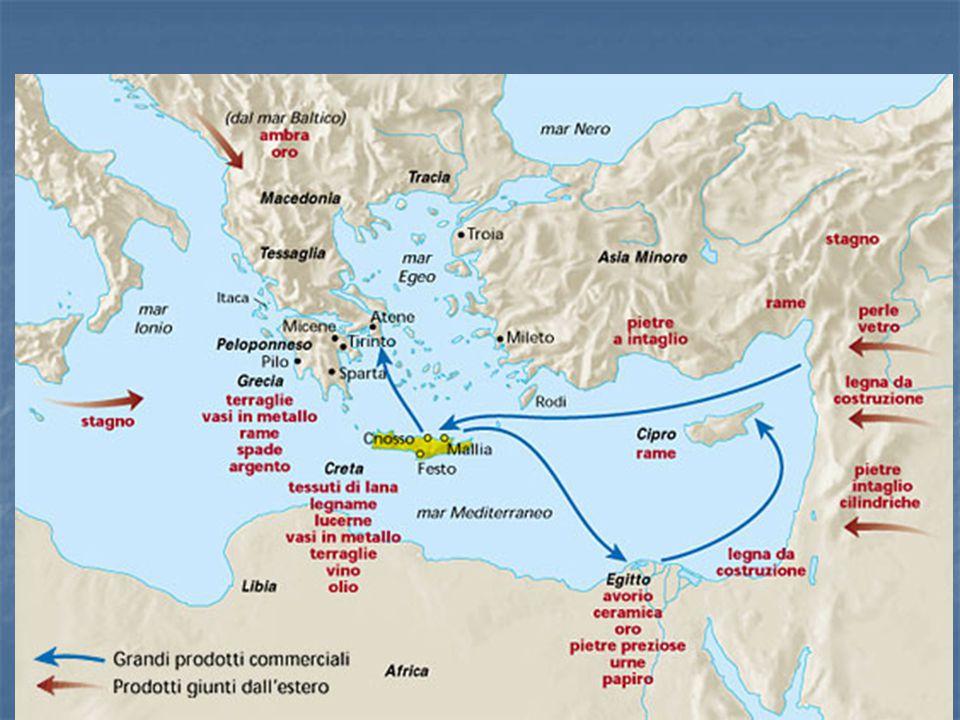 La civiltà cretese  Creta è un'isola al centro del Mediterraneo  fertili vallate e innumerevoli porti; ottimo clima  approdi sulle isole egee e su