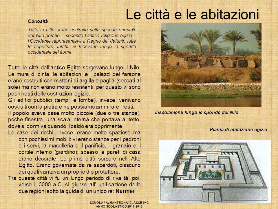 Curiosità Tutte le città erano costruite sulla sponda orientale del Nilo perché – secondo l'antica religione egizia – l'Occidente rappresentava il Reg