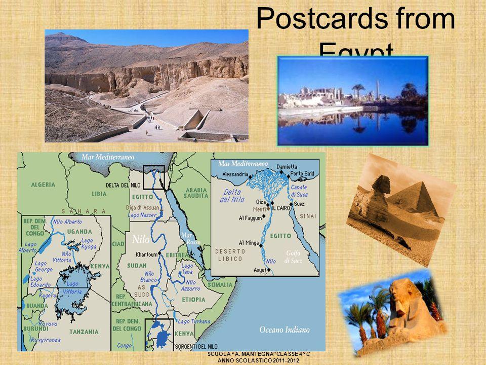 """Postcards from Egypt SCUOLA """"A. MANTEGNA""""CLASSE 4^ C ANNO SCOLASTICO 2011-2012"""