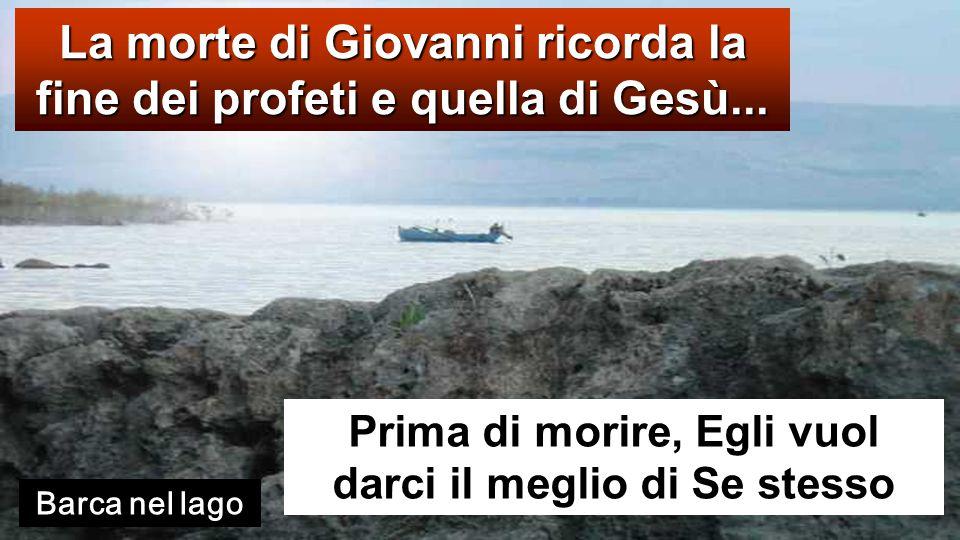 Mt 14,13-21 In quel tempo, avendo udito [della morte di Giovanni Battista], Ges ù part ì di l à su una barca e si ritirò in un luogo deserto, in disparte.