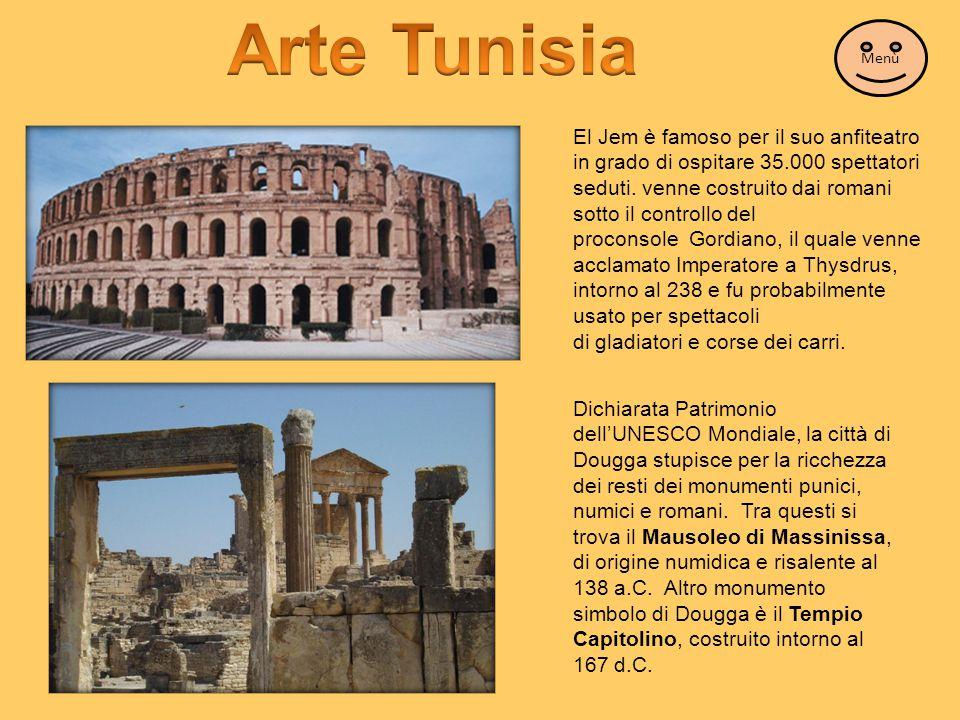 El Jem è famoso per il suo anfiteatro in grado di ospitare 35.000 spettatori seduti. venne costruito dai romani sotto il controllo del proconsole Gord