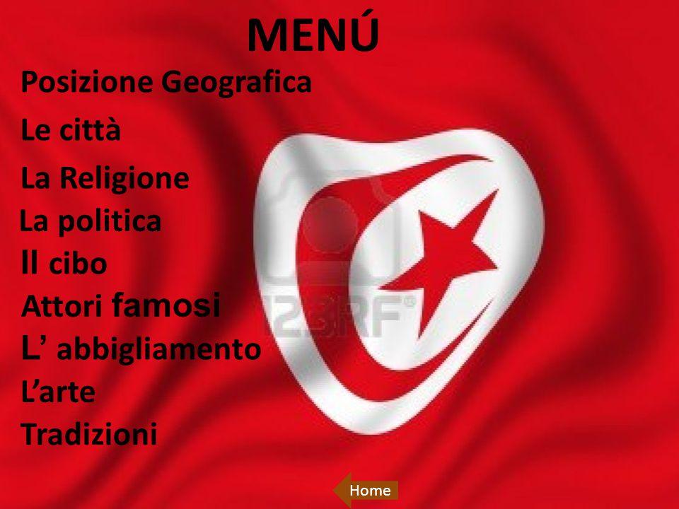 La Tunisia è uno stato dell'Africa settentrionale; a nord e a est è bagnato dal mar Mediterraneo, a sud-est confina con la Libia e a ovest con l'Algeria.