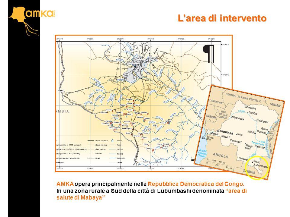 L'area di intervento AMKA opera principalmente nella Repubblica Democratica del Congo.
