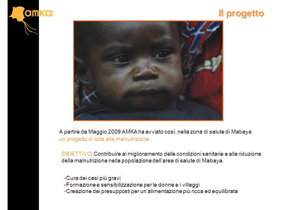 A partire da Maggio 2009 AMKA ha avviato così, nella zona di salute di Mabaya un progetto di lotta alla malnutrizione.