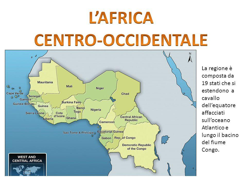 La regione è composta da 19 stati che si estendono a cavallo dell'equatore affacciati sull'oceano Atlantico e lungo il bacino del fiume Congo.