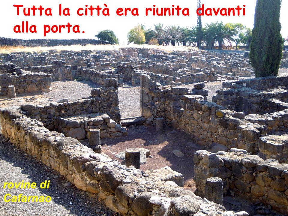 Tutta la città era riunita davanti alla porta. rovine di Cafarnao
