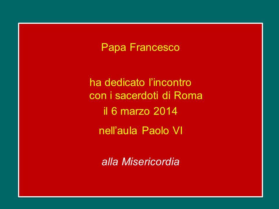 Incontro con i sacerdoti di Roma