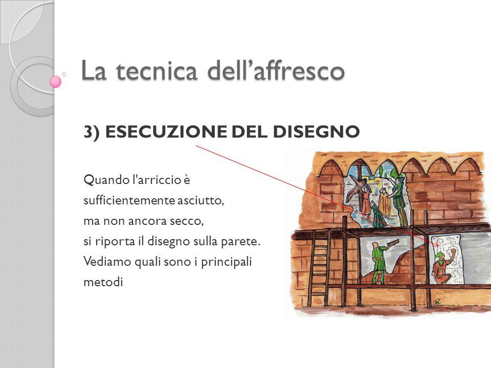 La tecnica dell'affresco 3) ESECUZIONE DEL DISEGNO a.