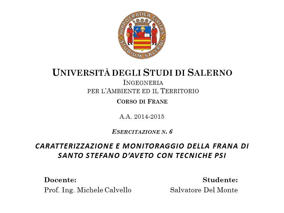 Il presente studio è stato condotto dal dipartimento di Scienze della Terra dell'Università di Firenze.