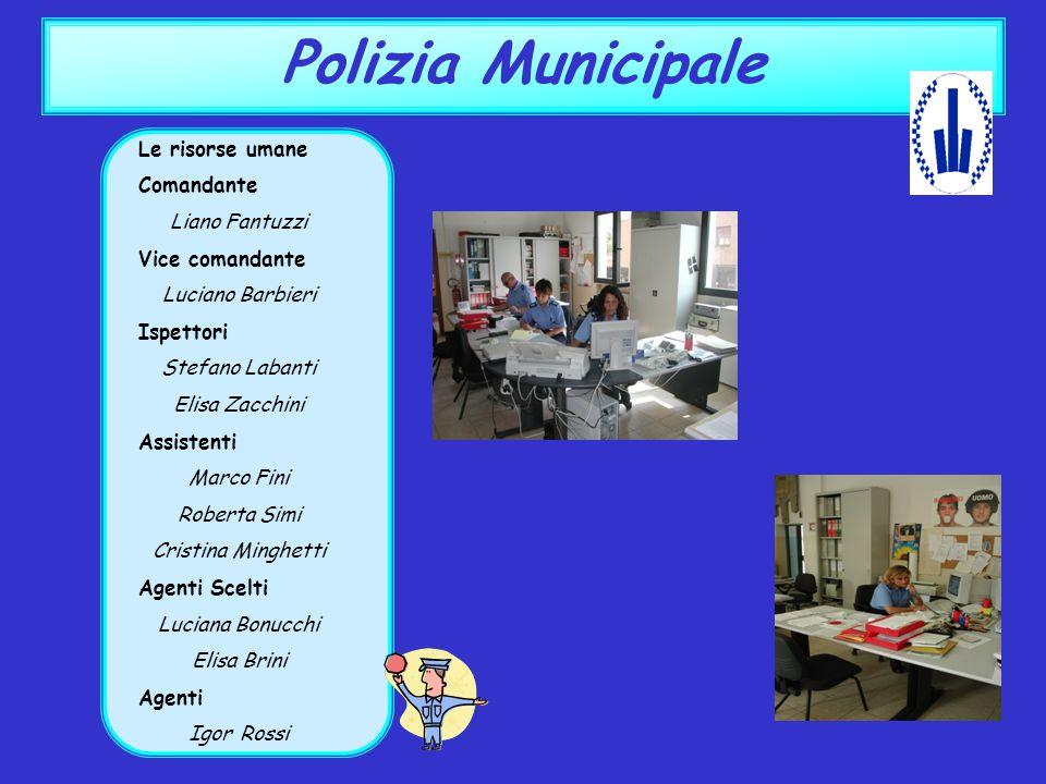 Polizia Municipale Le risorse umane Comandante Liano Fantuzzi Vice comandante Luciano Barbieri Ispettori Stefano Labanti Elisa Zacchini Assistenti Mar