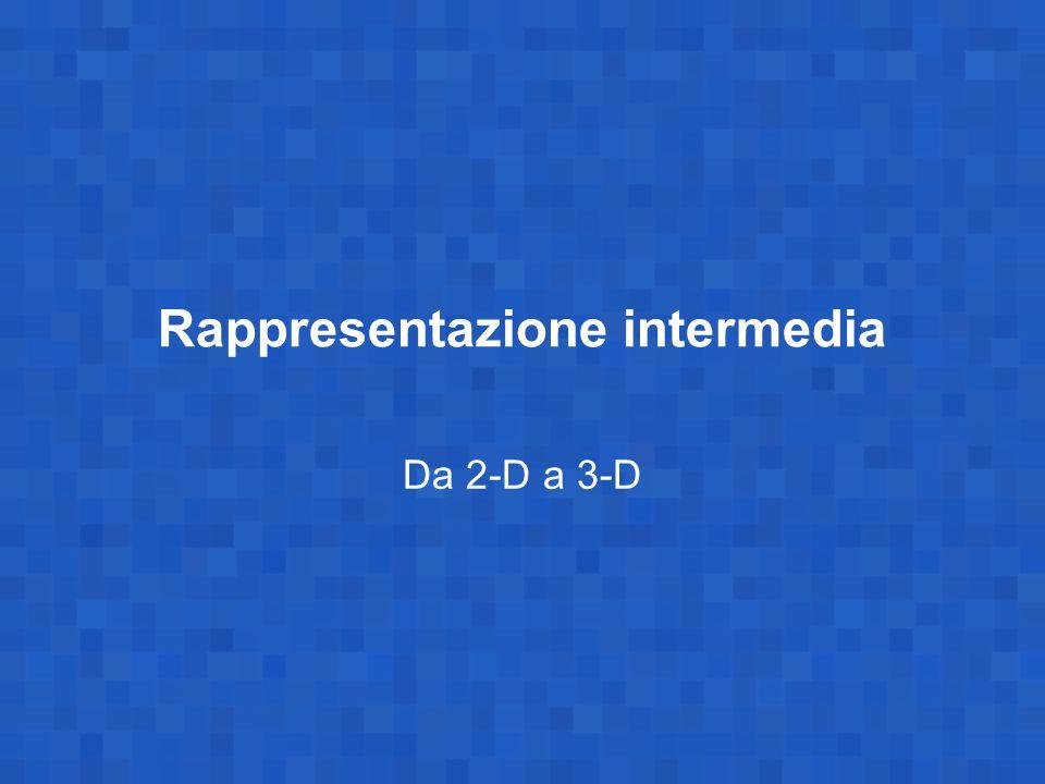 La stereopsi (visione stereoscopica) Differenti posizioni di osservazione risultano in viste 2D differenti della stessa scena a 3D.