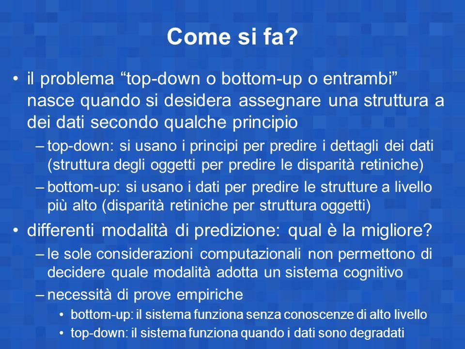 """Come si fa? il problema """"top-down o bottom-up o entrambi"""" nasce quando si desidera assegnare una struttura a dei dati secondo qualche principio –top-d"""