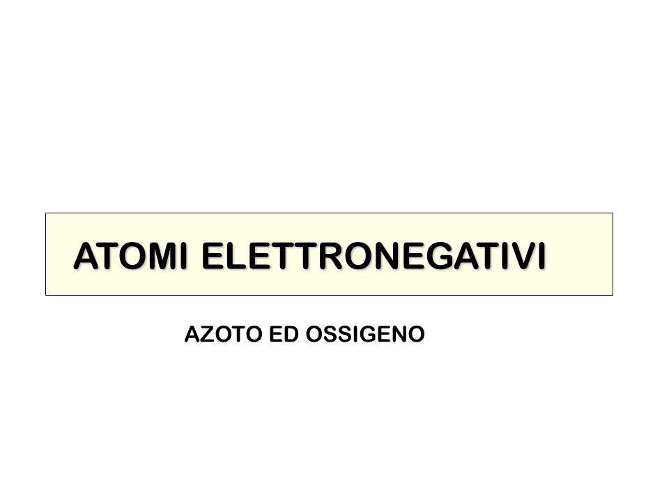 ATOMI ELETTRONEGATIVI AZOTO ED OSSIGENO