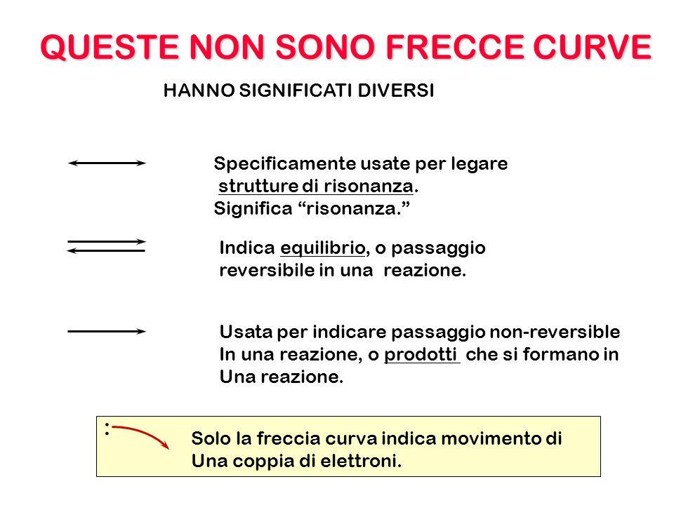 OCC C CC + OCC C CC + -- FRECCE CURVE ANIONI CATIONI Le cariche si spostano no nuove cariche.