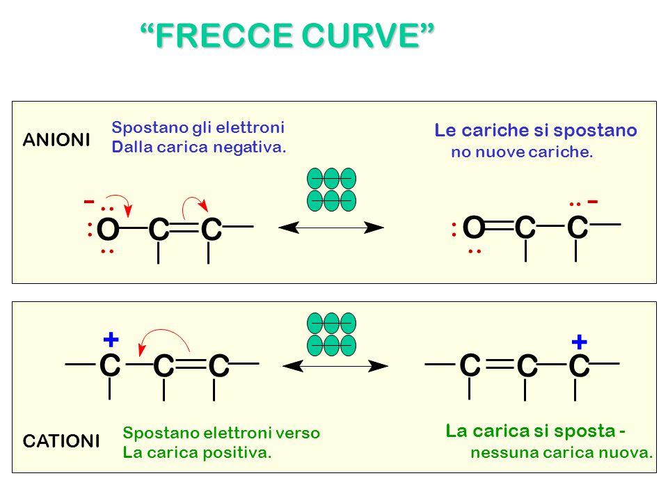 """OCC C CC + OCC C CC + -- """"FRECCE CURVE"""" ANIONI CATIONI Le cariche si spostano no nuove cariche. La carica si sposta - nessuna carica nuova. Spostano g"""