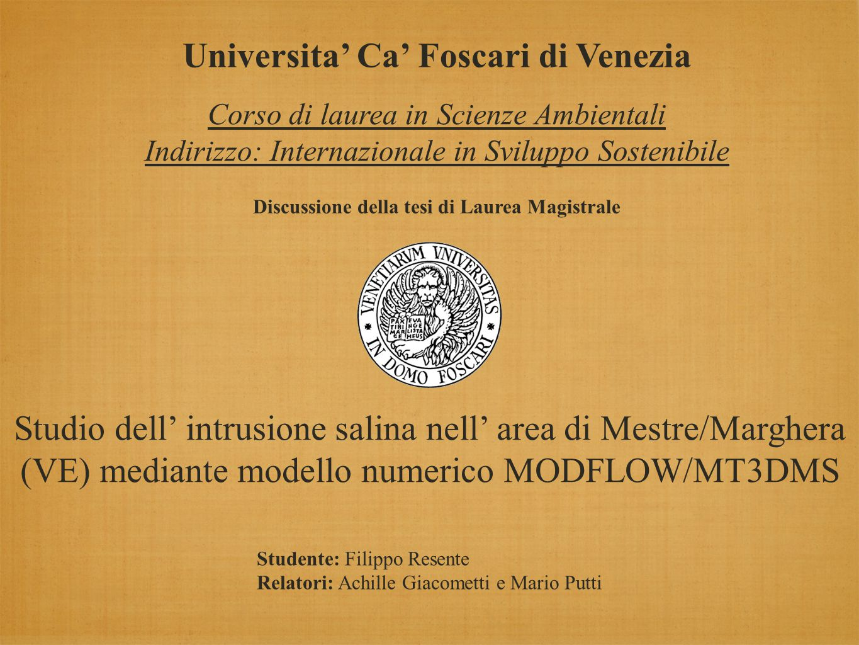 Modello idrodinamico: MODFLOW