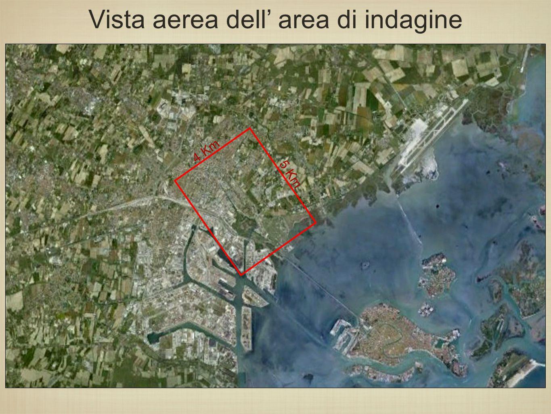 5 Km 4 Km Vista aerea dell' area di indagine