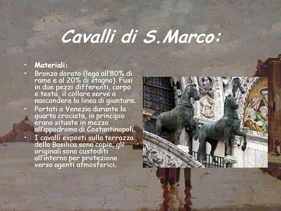 Esempio di Come si Esegue un Restauro: Restauro della quadriga posta sopra la Basilica di San Marco iniziato nel 1977 e concluso nel 1979 ad opera del