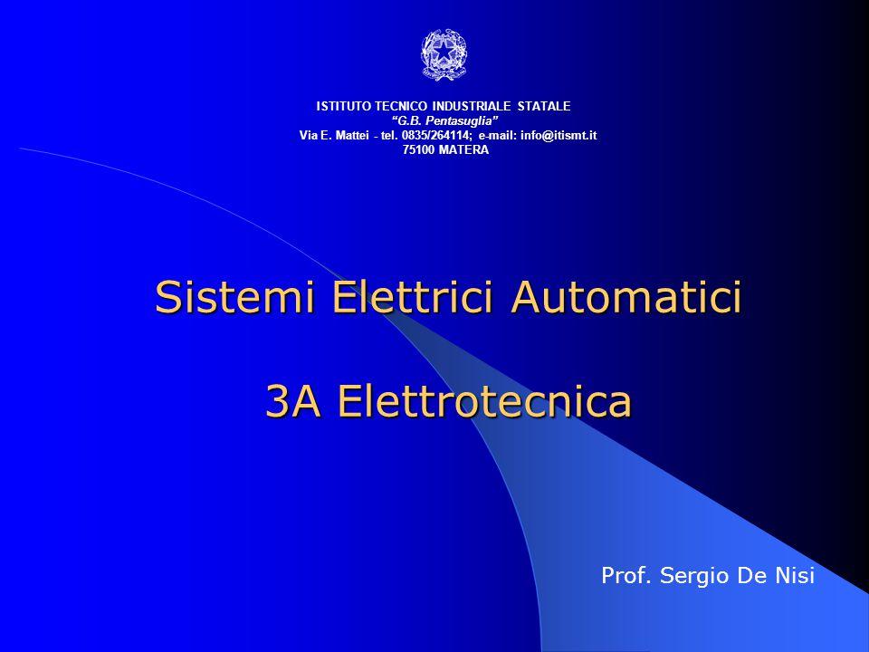 """Sistemi Elettrici Automatici 3A Elettrotecnica Prof. Sergio De Nisi ISTITUTO TECNICO INDUSTRIALE STATALE """"G.B. Pentasuglia"""" Via E. Mattei - tel. 0835/"""