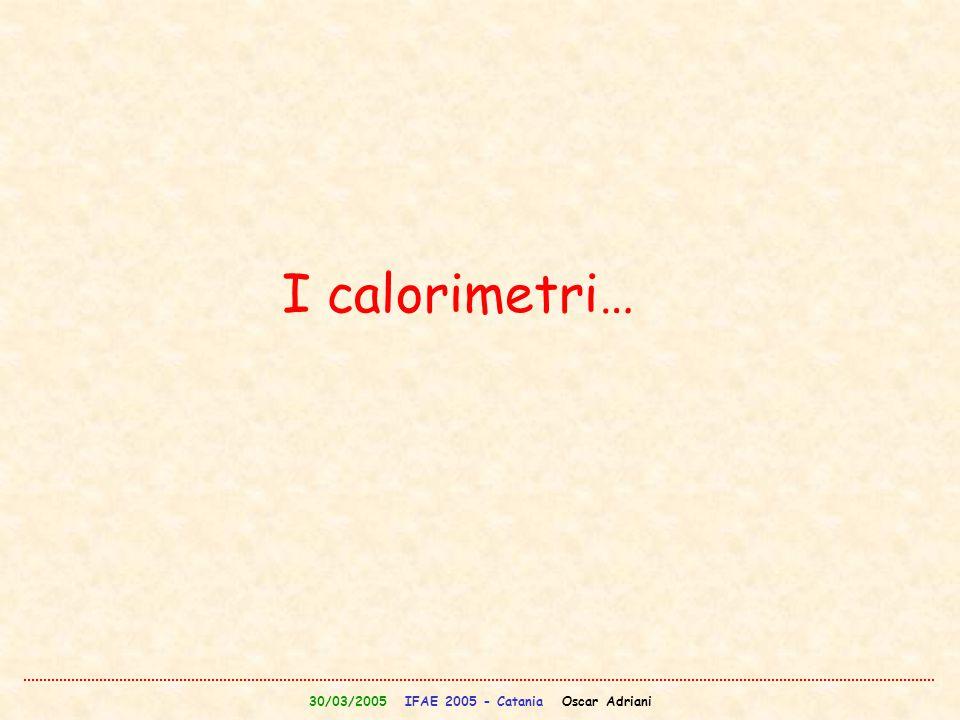 30/03/2005 IFAE 2005 - Catania Oscar Adriani I calorimetri…