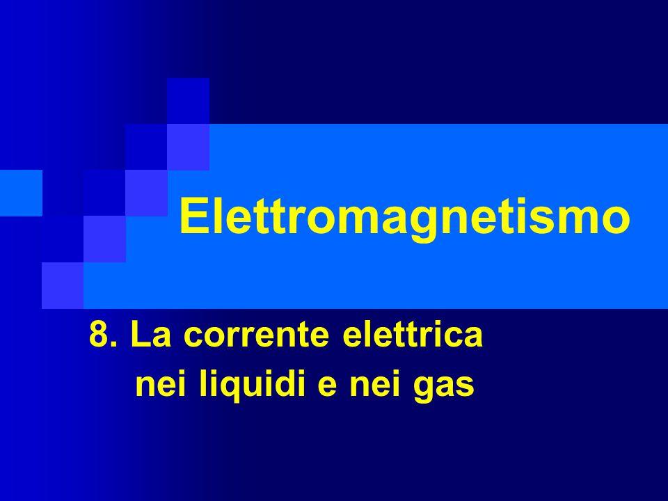 Elettromagnetismo 8. La corrente elettrica nei liquidi e nei gas