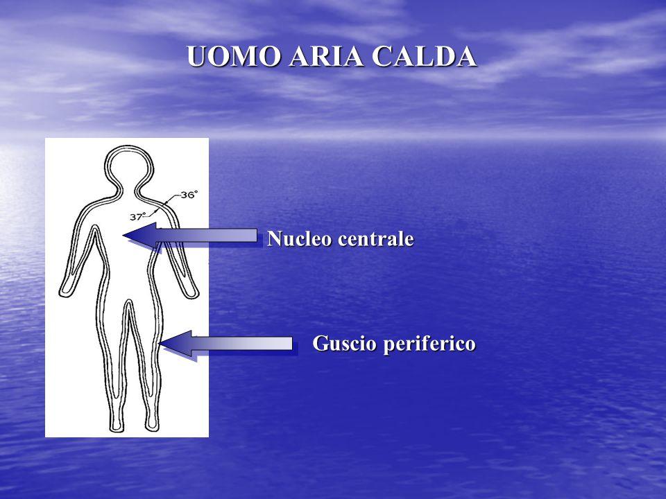 UOMO ARIA CALDA Guscio periferico Nucleo centrale