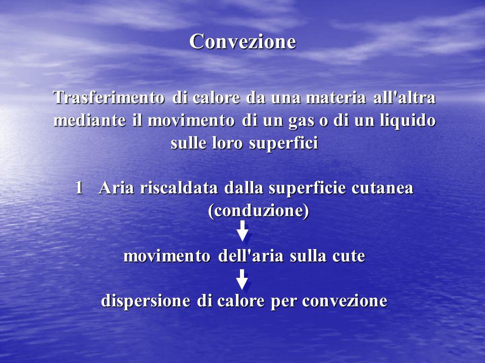 Scambio di calore sotto forma di radiazioni elettromagnetiche all infrarosso 1A riposo il corpo nudo in aria perde il 60 % del calore prodotto per irradiazione.