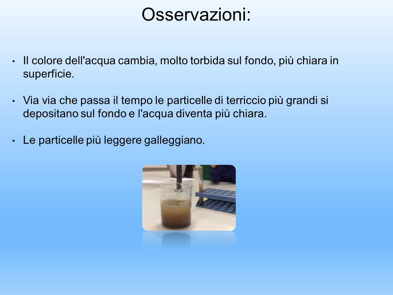 Preparazione di 50 ml di una soluzione acquosa di sale ad una determinata concentrazione (20 gr./l) Esperimento n.9