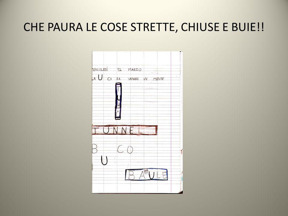 CHE PAURA LE COSE STRETTE, CHIUSE E BUIE!!