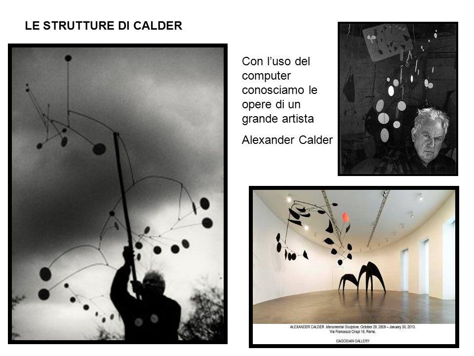 LE STRUTTURE DI CALDER Con l'uso del computer conosciamo le opere di un grande artista Alexander Calder