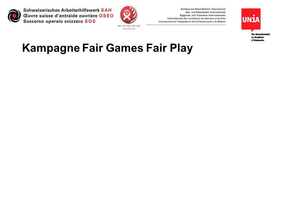 Campagna Fair Games Fair Play