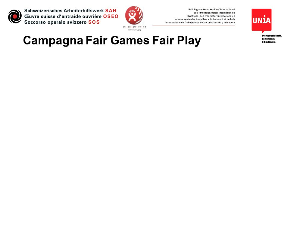 Campagna Fair Games Fair Play