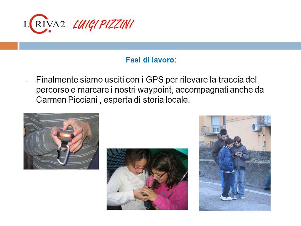 LUIGI PIZZINI Fasi di lavoro: Finalmente siamo usciti con i GPS per rilevare la traccia del percorso e marcare i nostri waypoint, accompagnati anche da Carmen Picciani, esperta di storia locale.