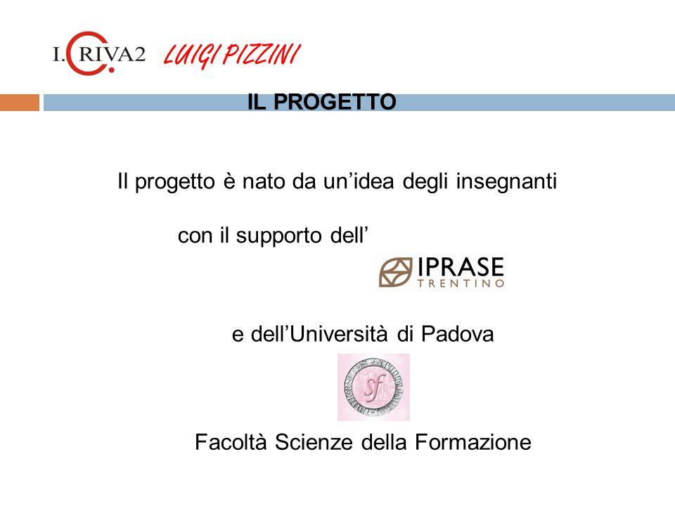 e dell'Università di Padova Facoltà Scienze della Formazione LUIGI PIZZINI Il progetto è nato da un'idea degli insegnanti con il supporto dell' IL PROGETTO