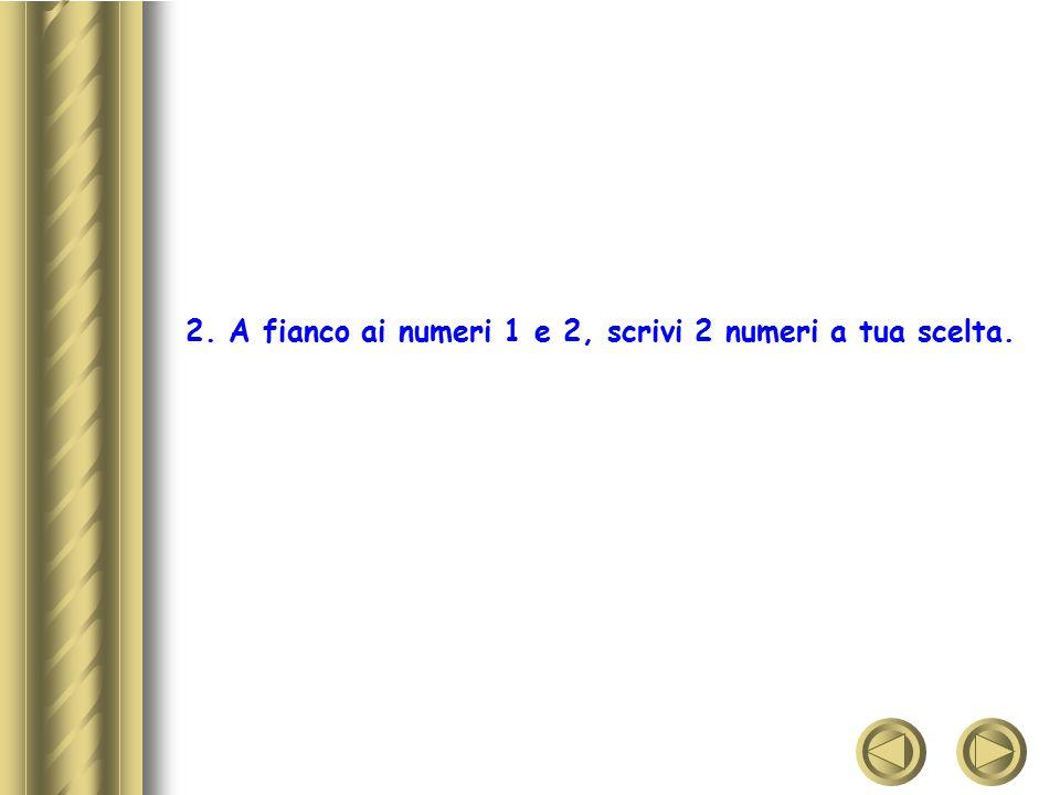 3.Vicino ai numeri 3 e 7, scrivi il nome di una persona di sesso opposto.