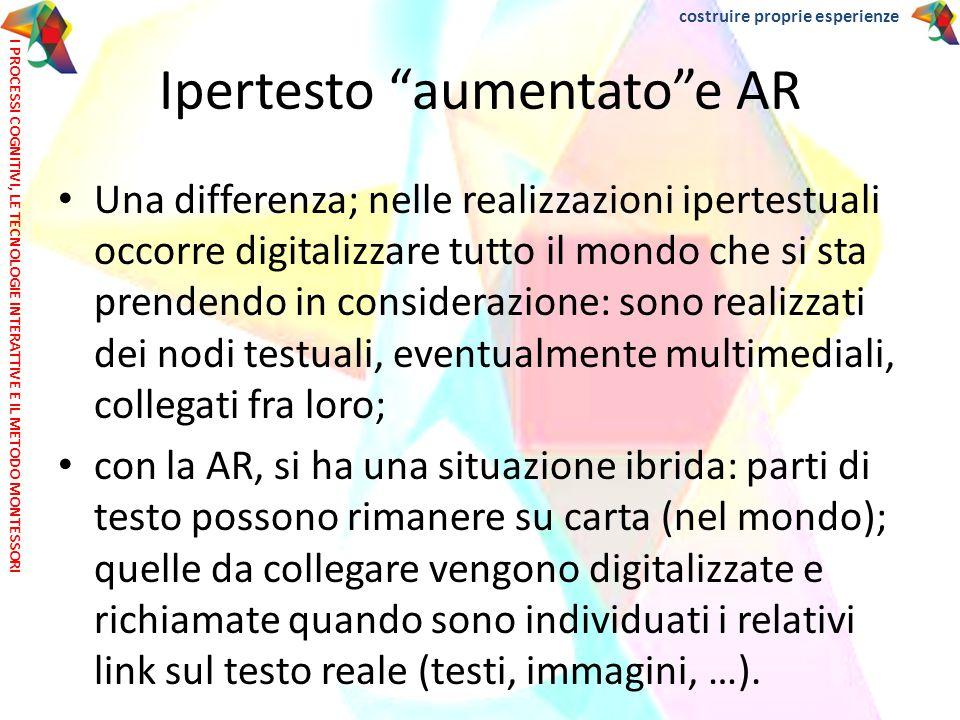 Una differenza; nelle realizzazioni ipertestuali occorre digitalizzare tutto il mondo che si sta prendendo in considerazione: sono realizzati dei nodi