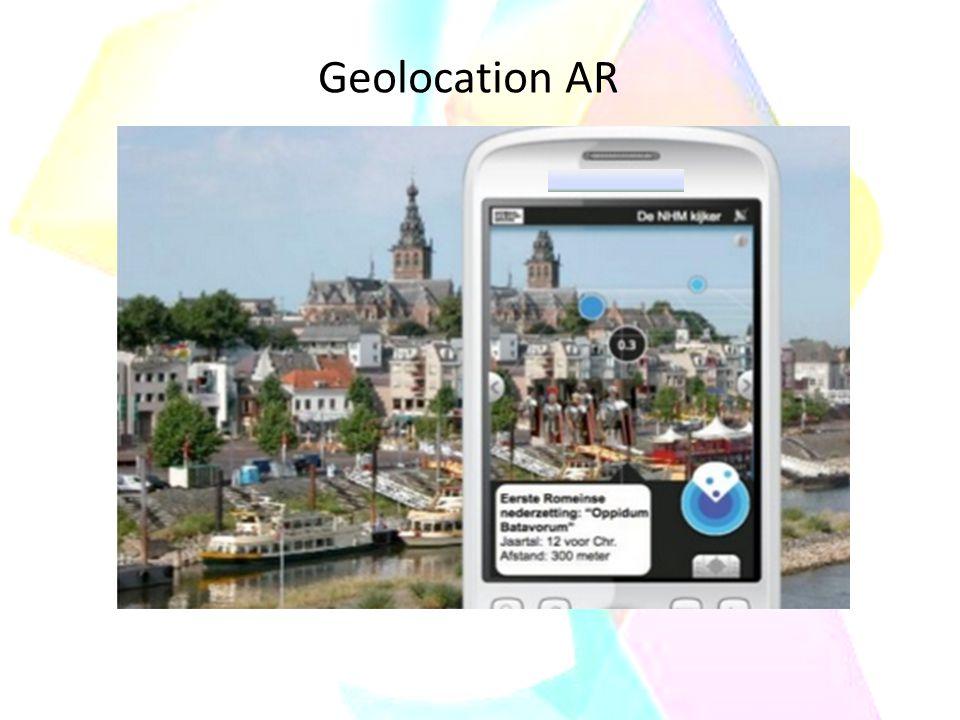 hand-held display L'AR è stata realizzata anche su dispositivi mobili attraverso software che recuperano nella rete il flusso delle informazione aggiuntive; ha essenzialmente due modalità di fruizione che riflettono due differenti sistemi di sviluppo.