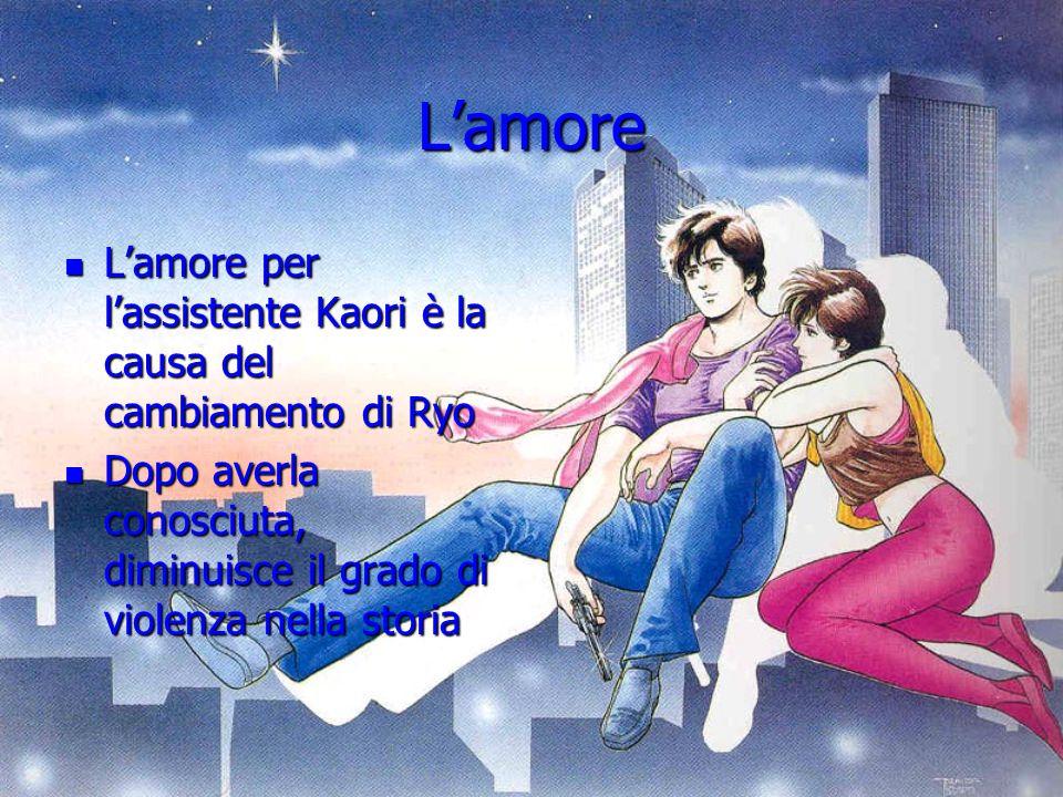 L'amore L'amore per l'assistente Kaori è la causa del cambiamento di Ryo L'amore per l'assistente Kaori è la causa del cambiamento di Ryo Dopo averla