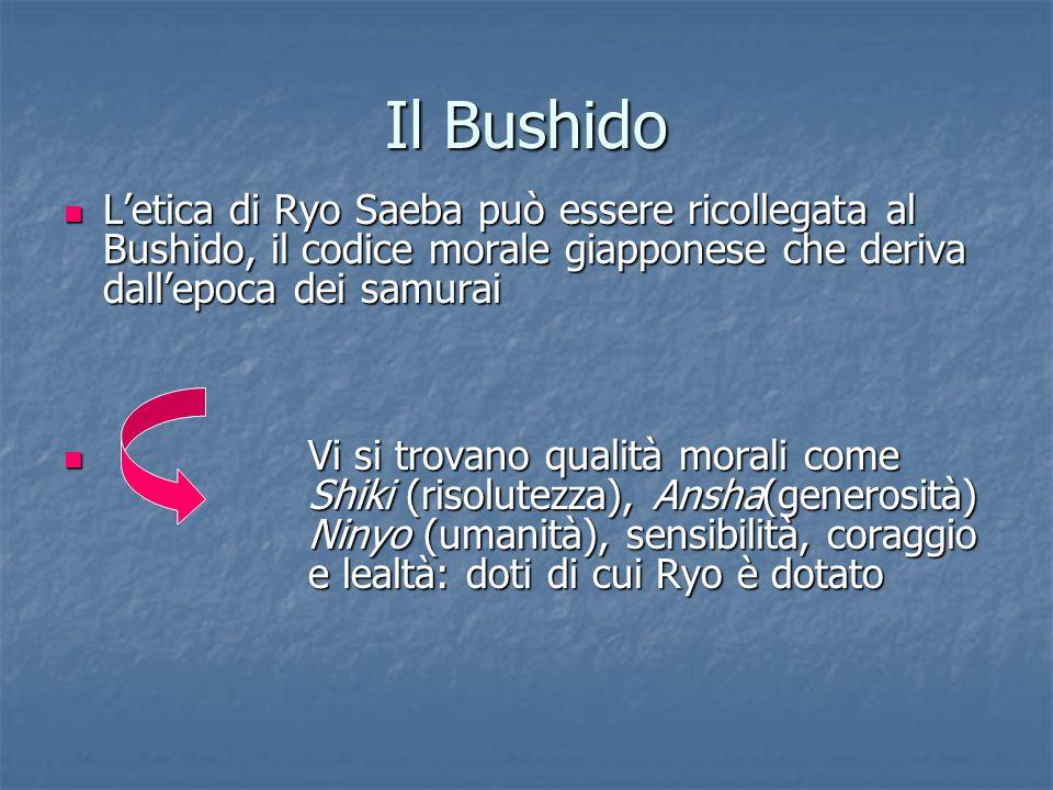 Il Bushido L'etica di Ryo Saeba può essere ricollegata al Bushido, il codice morale giapponese che deriva dall'epoca dei samurai L'etica di Ryo Saeba