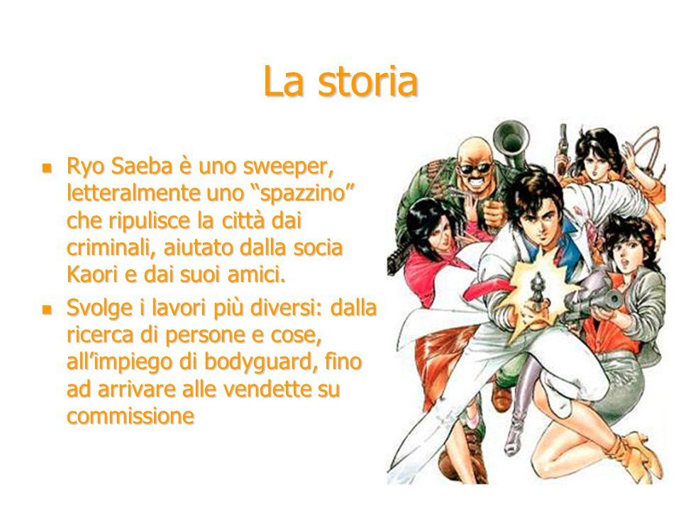 """La storia Ryo Saeba è uno sweeper, letteralmente uno """"spazzino"""" che ripulisce la città dai criminali, aiutato dalla socia Kaori e dai suoi amici. Ryo"""