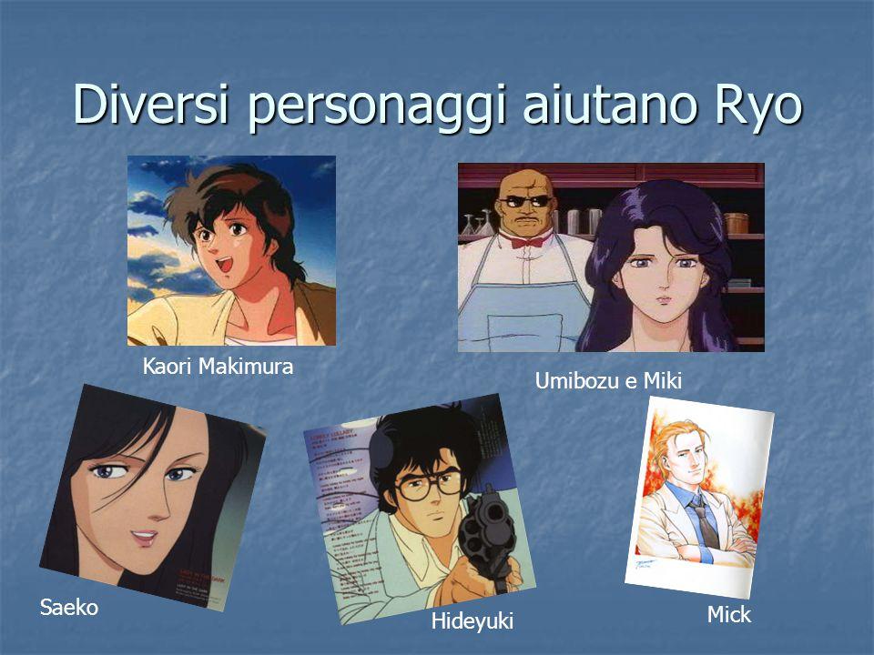 Diversi personaggi aiutano Ryo Kaori Makimura Umibozu e Miki Saeko Hideyuki Mick