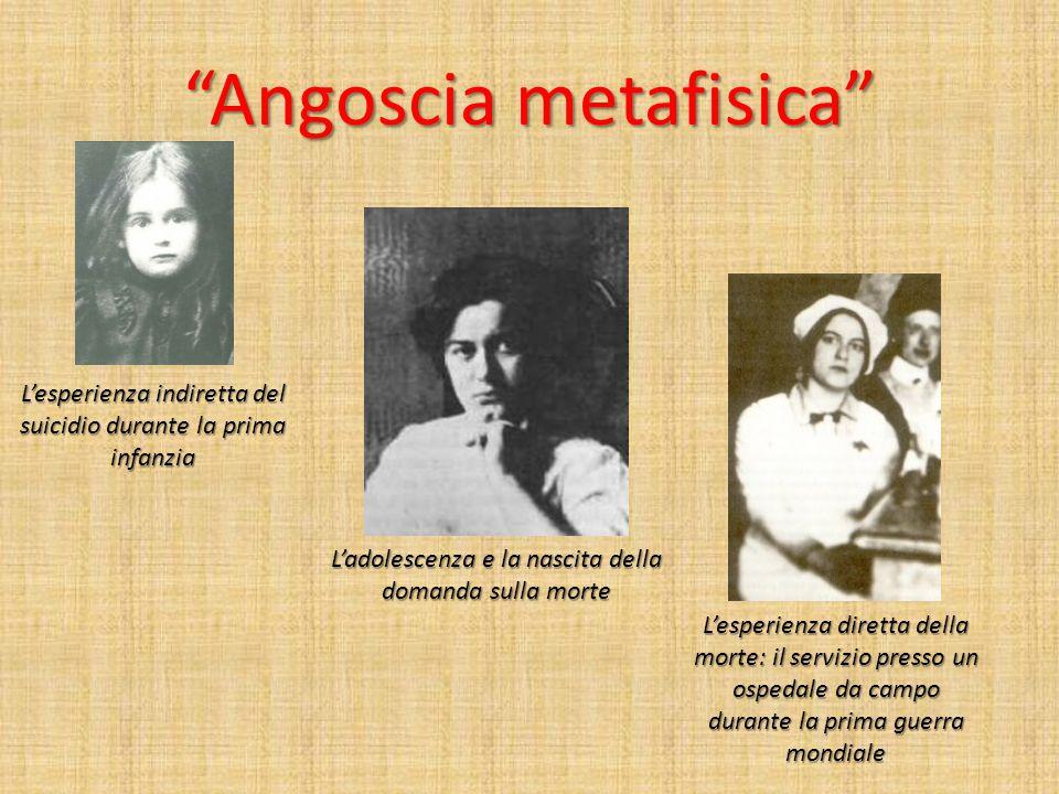 """""""Angoscia metafisica"""" L'esperienza indiretta del suicidio durante la prima infanzia L'adolescenza e la nascita della domanda sulla morte L'esperienza"""