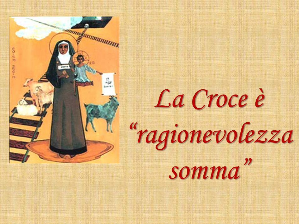 """La Croce è """"ragionevolezza somma"""""""