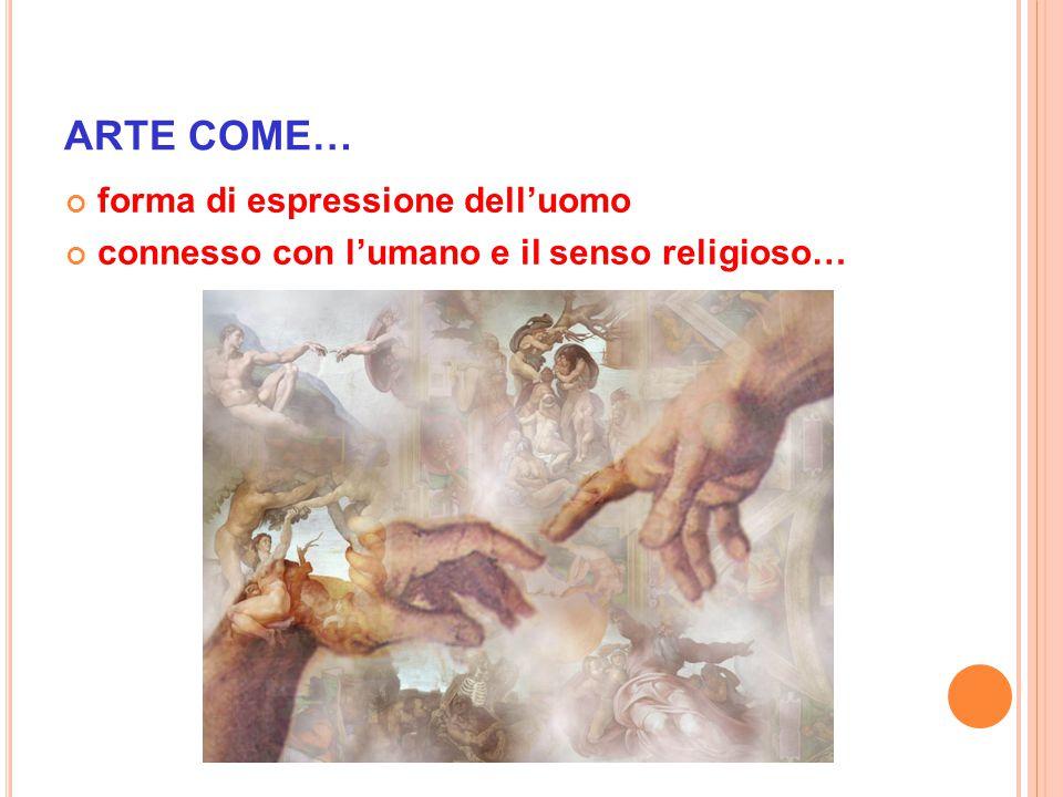 ARTE COME… forma di espressione dell'uomo connesso con l'umano e il senso religioso…